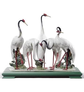 リヤドロ タンチョウ ツル 鶴 鳥 LLADRO FLOCK OF CRANES 01008697 日本未発売【ポイント最大43倍!お買物マラソン】