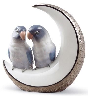 リヤドロ インコ 鳥 FLY ME TO THE MOON SILVER ANNIVERSARY 01008789 LLADRO 【ポイント最大43倍!お買物マラソン】