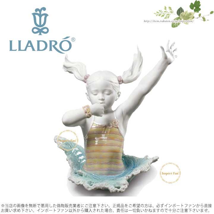 リヤドロ そこに行く 01009194 LLADRO THERE I GO! 女の子 水遊び □
