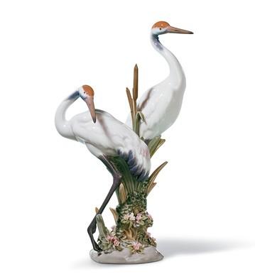 リヤドロ 鶴 ツル 鳥 COURTING CRANES 01001611 LLADRO 日本未発売 【ポイント最大42倍!お買物マラソン】