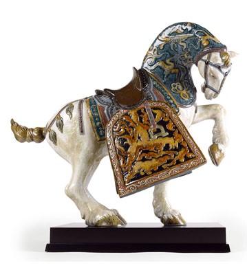 リヤドロ 東洋の馬 オリエンタルホース ORIENTAL HORSE GLAZED 01001943 LLADRO 日本未発売 ハイポーセリン作品 世界限定制作数 1,000体□