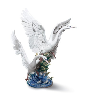 リヤドロ 白鳥の羽ばたき SWANS TAKE FLIGHT 01005912 LLADRO 日本未発売 【ポイント最大43倍!お買物マラソン】