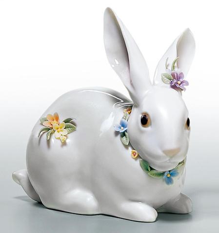 リヤドロ 花飾りの白うさぎ(2) 01006098 LLADRO 【ポイント最大43倍!お買物マラソン】