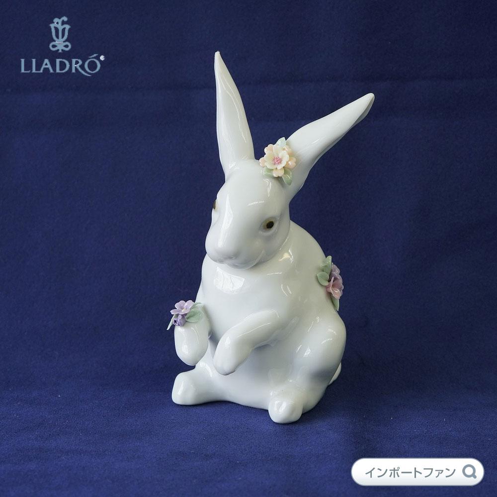 リヤドロ 花飾りの白うさぎ(4) 01006100 LLADRO 【ポイント最大43倍!お買物マラソン】