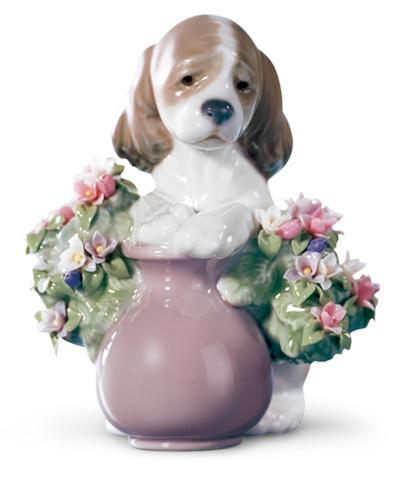 リヤドロ お花が大好き 01006574 LLADRO 犬 【ポイント最大43倍!お買物マラソン】