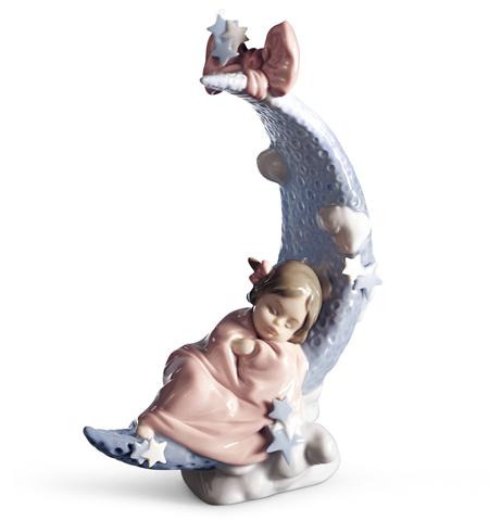 リヤドロ お月さまの夢 01006583 LLADRO 出産祝いにも♪赤ちゃん□