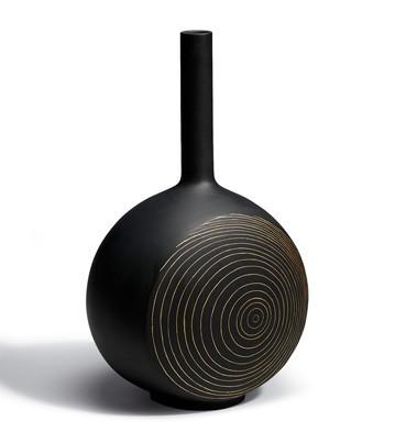 リヤドロ 木の年輪 黒 花瓶 CANVAS VASE TREE RINGS (BLACK) 01007078 LLADRO 日本未発売 【ポイント最大43倍!お買物マラソン】