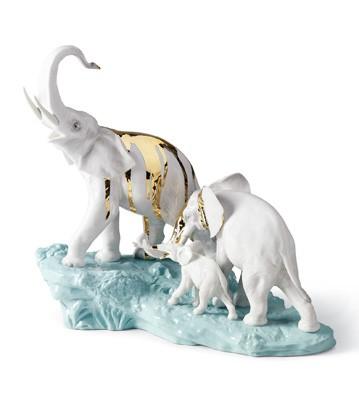 リヤドロ 祝福 ゾウ ターコイズ 岩 CELEBRATION-ELEPHANTS ON DARK TURQ.ROCK 01007236 LLADRO 日本未発売 【ポイント最大43倍!お買物マラソン】