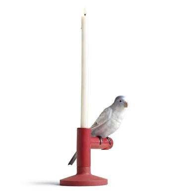 リヤドロ インコ 鳥 PARROT LIGHT  01007855 キャンドルホルダー LLADRO 日本未発売 □