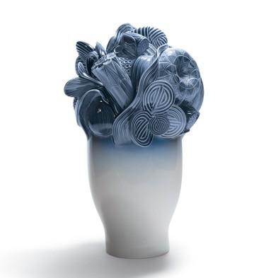 リヤドロ NATUROFANTASTIC- LARGE VASE (BLUE) 01007900 LLADRO 日本未発売 【ポイント最大43倍!お買物マラソン】