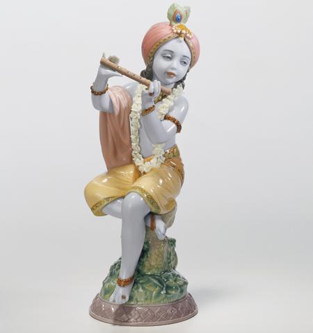リヤドロ クリシュナ 01008122 LLADRO ヒンズー教で最も人気の高い神様 ヴィシュヌ神 【ポイント最大43倍!お買物マラソン】