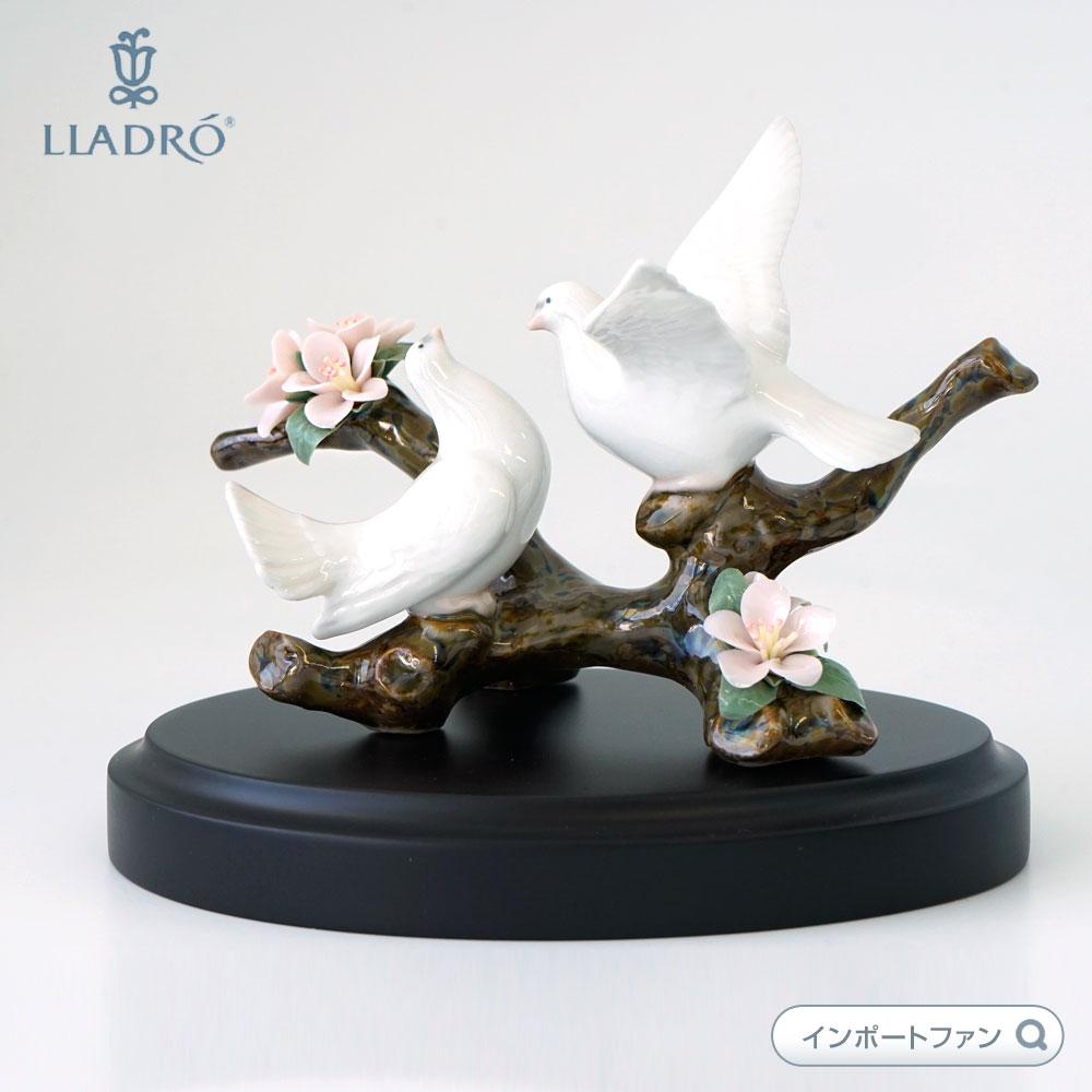 リヤドロ 桜の唄 01008422 LLADRO 白い鳩 鳥【ポイント最大43倍!お買物マラソン】