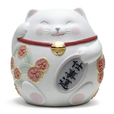 リヤドロ 招き猫 (White) 01008528 LLADRO お正月飾りやインテリアに 【ポイント最大42倍!お買物マラソン】