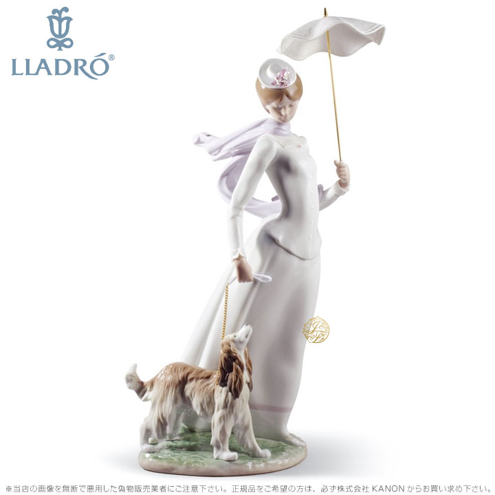リヤドロ ショールの貴婦人 犬 01008679 LLADRO LADY WITH SHAWL □