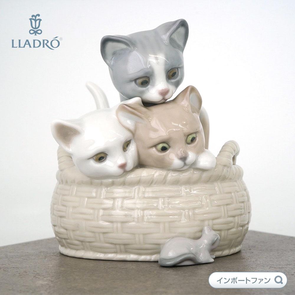 リヤドロ 見いつけた CURIOUS KITTENS 猫 ネコ ネズミ 01008693 【ポイント最大44倍!お買い物マラソン セール】