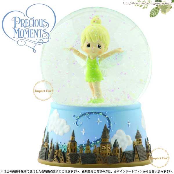 プレシャスモーメンツ ティンカーベル ピーターパン スノードーム Girl As Tinker Bell Over London Skyline - Musical Water Globe 113104 ディズニー Precious Moments 【ポイント最大43倍!お買物マラソン】