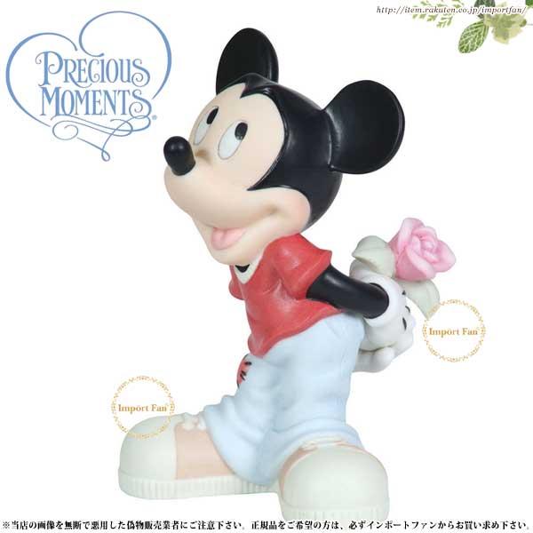 プレシャスモーメンツ ミッキー 花束 Will You Be Mine 113700 ディズニー Precious Moments Mickey □