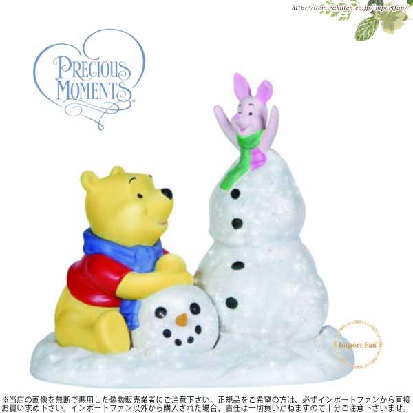 プレシャスモーメンツ くまのプーさん ピグレット 楽しい雪遊び 131702 Precious Moments Frosty Sort OF Fun □