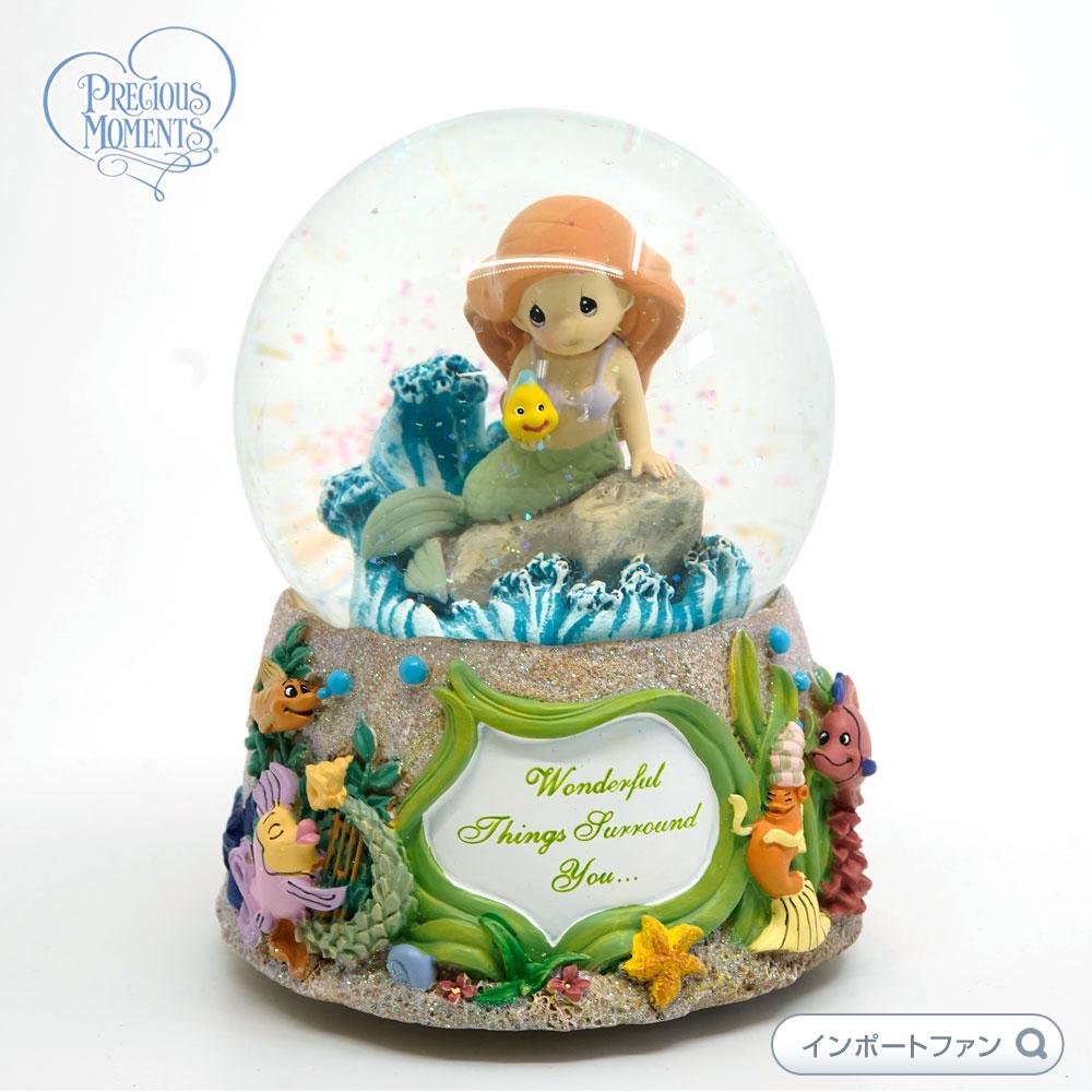 プレシャスモーメンツ アリエル スノードーム Wonderful Things Surround You 132108 リトルマーメイド ディズニー Precious Moments Ariel □