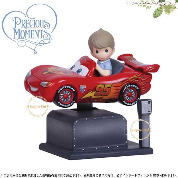 プレシャスモーメンツ ライトニング・マックィーン カーズ Lightning McQueen Kiddie Ride Musical 134101 ディズニー Precious Moments Cars □