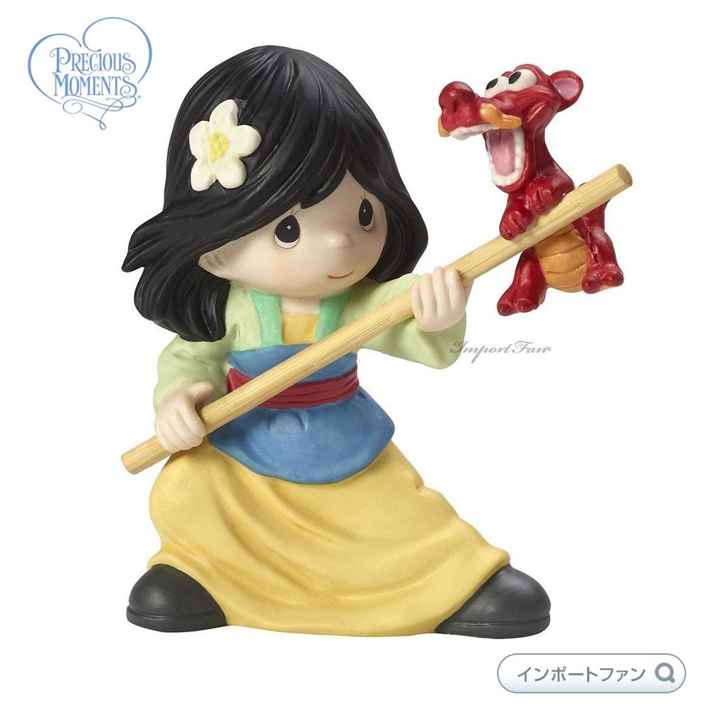 プレシャスモーメンツ ムーラン ムーシュー 守護竜 一緒に何でもできる ディズニー 173091 Disney Mulan Together We Can Do Anything, Figurine, Porcelain Precious Moments 【ポイント最大44倍!お買い物マラソン セール】