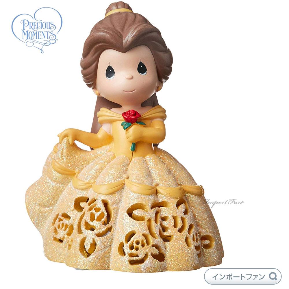 プレシャスモーメンツ ベル LED ライトアップ オルゴール ミュージカル 美女と野獣 ディズニー 183472 Disney Belle LED Light Up Musical Figurine, Resin Precious Moments 【ポイント最大44倍!お買い物マラソン セール】