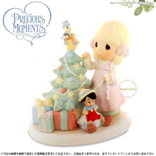 プレシャスモーメンツ ピノキオ ジミニー クリスマス When You Wish Upon A Star 690010 ディズニー  Precious Moments Pinocchio 【ポイント最大43倍!お買物マラソン】