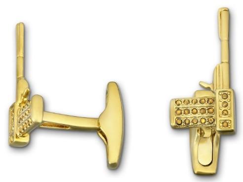 スワロフスキー Swarovski ゴールド ガン 銃型 カフス リンクス メンズ Golden Gun Cuff Links1175309 アクセサリー【あす楽】 【ポイント最大43倍!お買物マラソン】