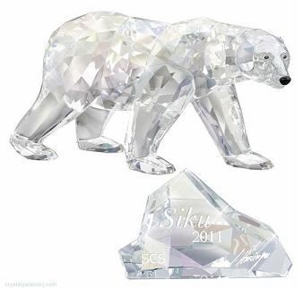 スワロフスキー 2011年 SCS会員限定 ホッキョクグマ 1053154 Swarovski Polar Bear Siku □