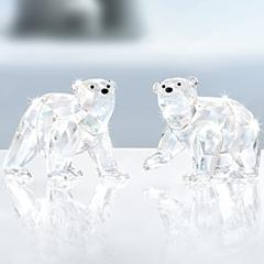 スワロフスキー 2010年 SCS会員限定 ホッキョクグマの赤ちゃん クリスタルムーンライト 1079156 Swarovski Polar Bear Cubs Crystal Moonlight 【ポイント最大43倍!お買物マラソン】
