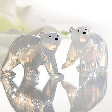 スワロフスキー 2011年度 SCS会員限定 ホッキョクグマの赤ちゃん ホワイトオパール 1080774 Swarovski 2011 Polar Bear Cubs White Opal 【ポイント最大43倍!お買物マラソン】