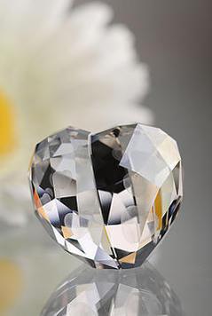 スワロフスキー Swarovski ラブハート クリスタルシルバーシェイド M Love Heart, Crystal Silver Shade, M 1096729 □