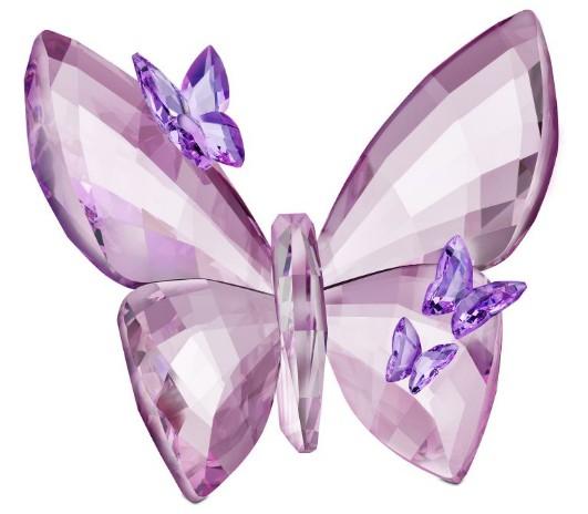 スワロフスキー チョウ ライト アメジスト 蝶 Swarovski Butterfly,Light Amethyst.large 1183941 フィギュリン/オブジェ 【ポイント最大43倍!お買物マラソン】