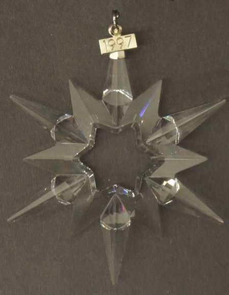 スワロフスキー 1997年 SCS会員限定 クリスマスオーナメント Swarovski SCS Annual Christmas Snowflake Star Ornament 【ポイント最大43倍!お買物マラソン】