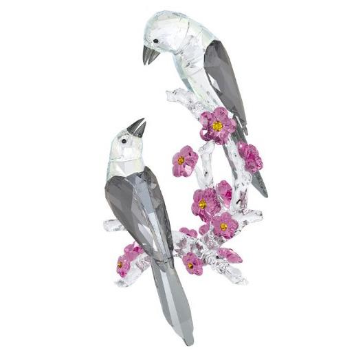 スワロフスキー Swarovski チュウティレリィ スピリット マグピーズ 鳥 Tutelary Spirit - Loving Magpies 5004639 置物 【ポイント最大43倍!お買物マラソン】