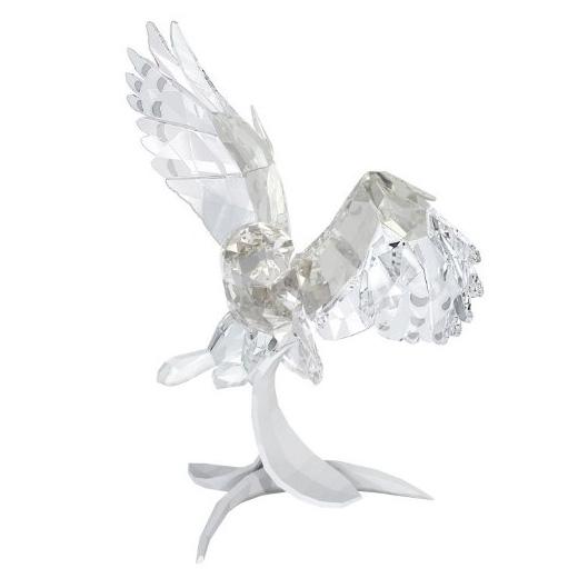 スワロフスキー Swarovski スノーウィ フクロウ 鳥 Snowy owl 5004640 置物 【ポイント最大43倍!お買物マラソン】
