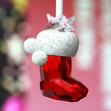 スワロフスキー Swarovski クリスマスオーナメント サンタさんの靴下 944872 【あす楽】 □