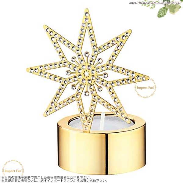 スワロフスキー ゴールデンスター ティーライト キャンドルホルダー ゴールド ロウソク立て 5030478  Swarovski Tea Light Golden Star □