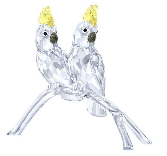 スワロフスキー オウム 鳥 5135939 置物 Swarovski Cockatoos□