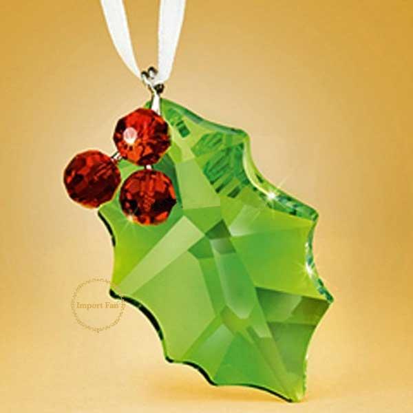 スワロフスキー Swarovski ホリー 870001 ヒイラギのクリスマスオーナメント 2011年限定【あす楽】 □