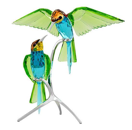 スワロフスキー ハチクイ ペア 鳥 置物 957128 Swarovski Bee-eaters【ポイント最大42倍!お買物マラソン】