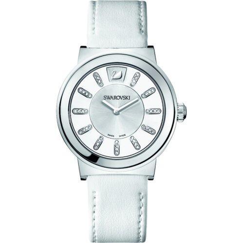 スワロフスキー Swarovski 腕時計 Piazza - ホワイト レディースウオッチ 36mm 1000664□