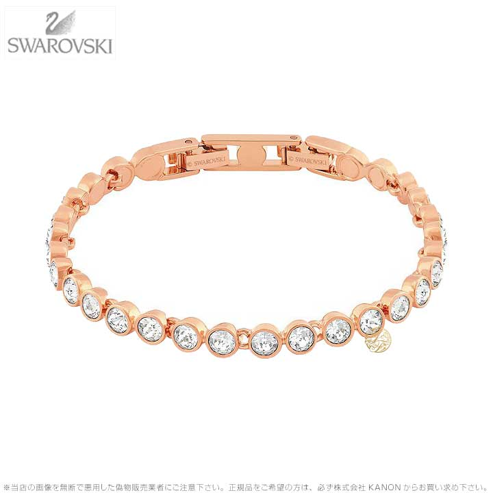 スワロフスキー テニス ブレスレット ローズゴールド 5039938 Swarovski TENNIS BRACELET, WHITE, ROSE GOLD PLATING□