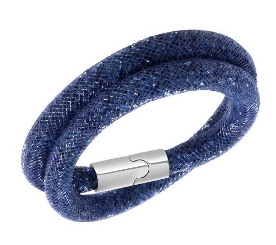 スワロフスキー スターダスト ネイビー ダブル ブレスレット 5102557 Swarovski Stardust navy Double Bracelet 【ポイント最大44倍!お買い物マラソン セール】