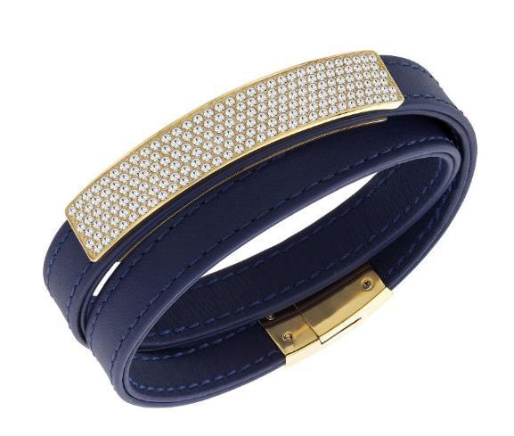 スワロフスキー ヴィオ ネイビー レザー ブレスレット 5120642 Swarovski Vio Navy Leather Bracelet 【ポイント最大43倍!お買物マラソン】