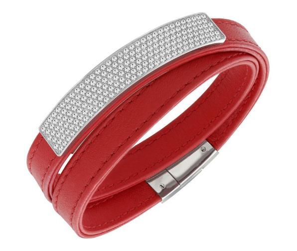 スワロフスキー ヴィオ レッド レザー ブレスレット 5120644 Swarovski Vio Leather Bracelet 【ポイント最大43倍!お買物マラソン】