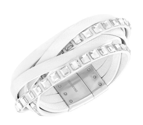 スワロフスキー セレブ レザー ブレスレット ホワイト 5134623 Swarovski Celeb Leather Bracelet 【ポイント最大43倍!お買物マラソン】