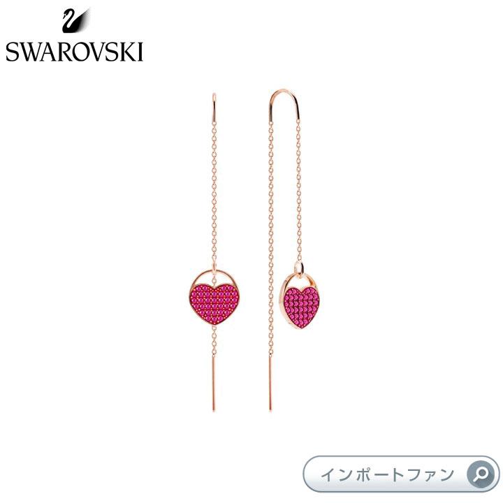 Swarovski Ginger Pierced Earrings Pink Rose ご注文で当日配送 gold plating ローズゴールド ハート ピアス ピンク スワロフスキー 評判 5472445 ジンジャー