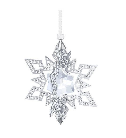 スワロフスキー クリスマスオーナメント スター シルバー 5135808 Swarovski Christmas Ornament Star, Silver Tone 【ポイント最大42倍!お買物マラソン】