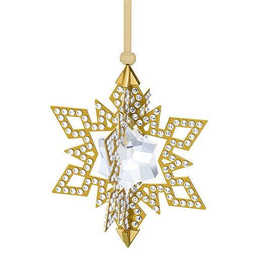 スワロフスキー クリスマスオーナメント スター ゴールド 5135809 Swarovski Christmas Ornament Star, Gold Tone 【ポイント最大42倍!お買物マラソン】